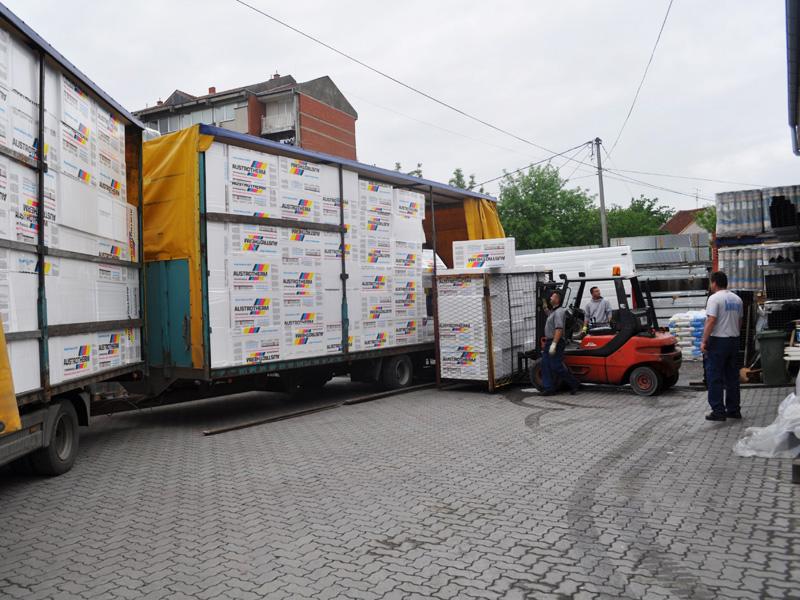 Utovar i istovar robe preduzeća Joter d.o.o. u Kruševcu