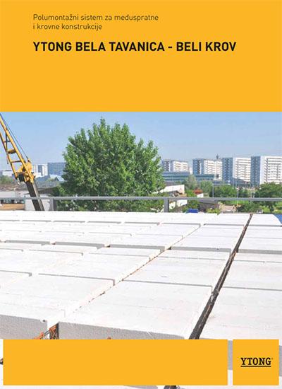 YTONG Bela tavanica – Beli krov
