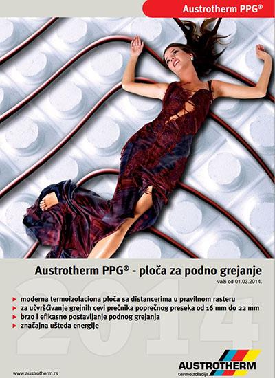 Austrotherm PPG ploča za podno grejanje